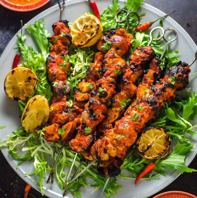 Lemon Chicken Skewers Summer