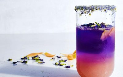 Blue to pink and purple drink recipe