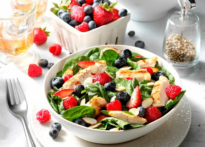 Salads in high in nutrients like vitamin C and manganese.