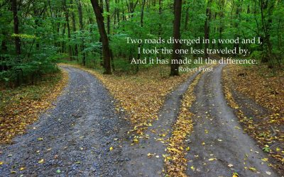 """The Road Not Taken"" – The ""road less traveled by"""