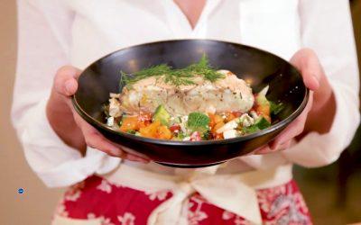 Grilled Garlic&Ginger Sea Bass recipe