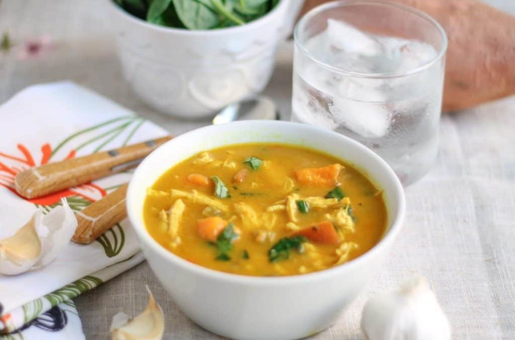 Coconut Curry Chicken Vegetable Soup