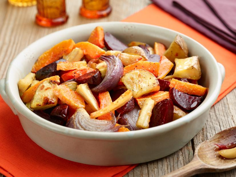 Roasted Root Vegetables for Thanksgiving table