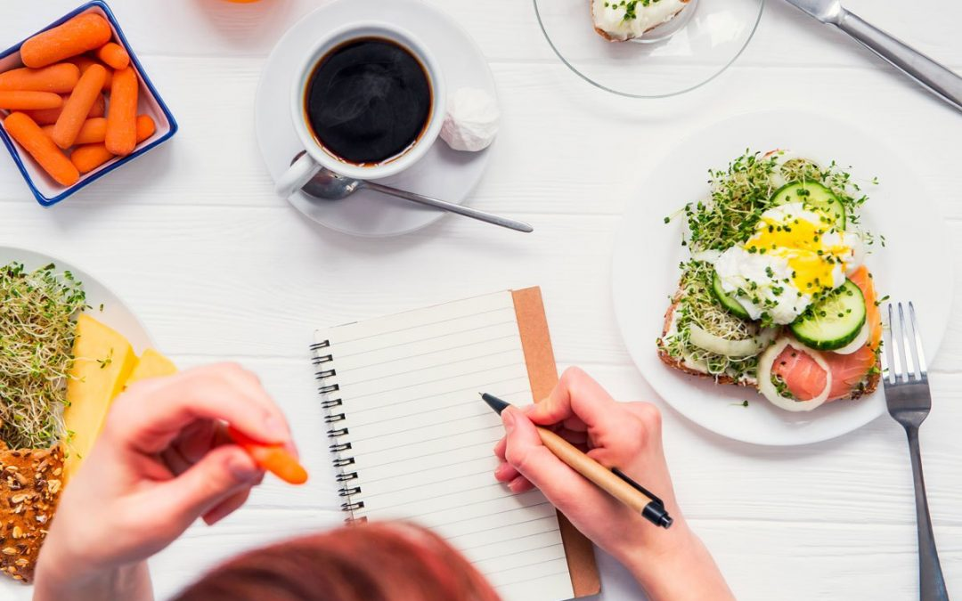 How do you write a food journal?